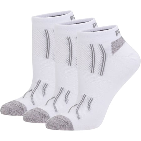 Modal Women's Low Cut Socks [3 Pack], white-steel grey, small